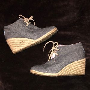 Cute Toms wedge shoes